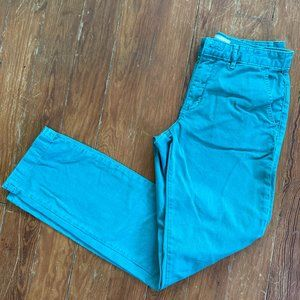 Anthropologie Chino Relaxed Turquoise Teal sz 28